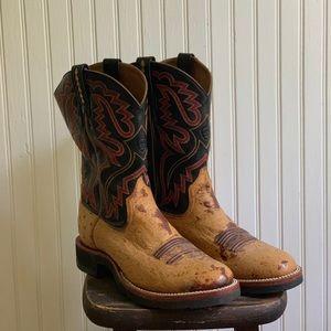 Ariat Ostrich Quill Boots 11D